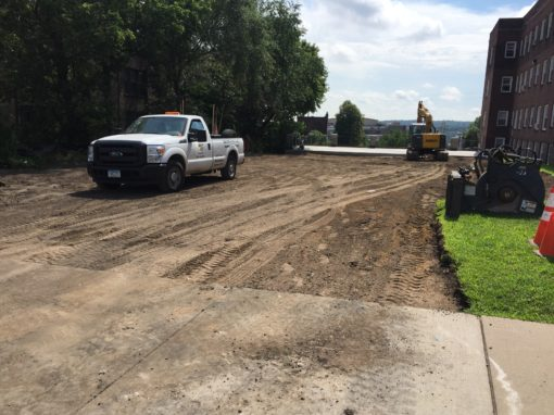 Reclaim and Repave of Parking Lot and Huge Concrete Pad – Aug 2016