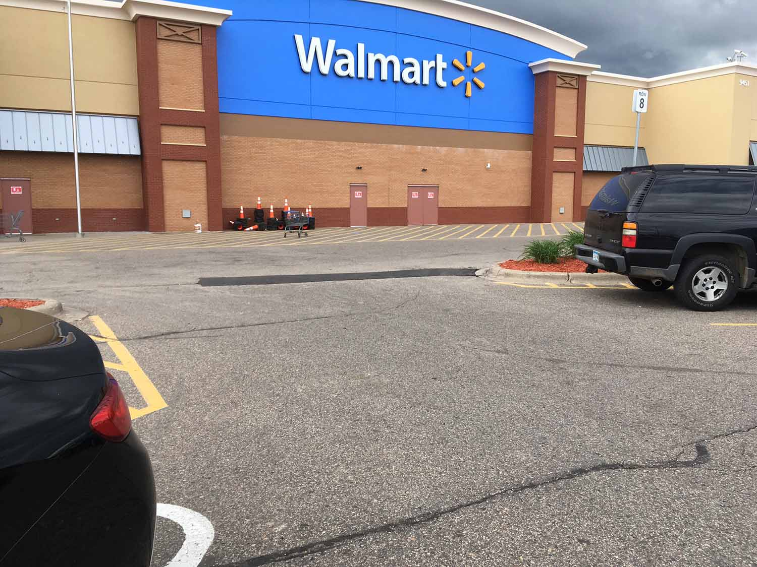 Over 10 000sf Of Patching For Walmart Metro Paving Inc