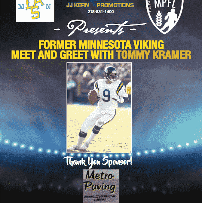 Metro Paving Inc Sponsors Events with Former Vikings Quarterback Tommy Kramer