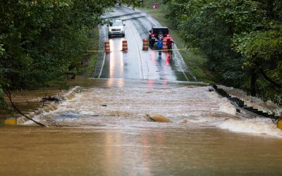 How Flood Waters Damage Your Pavement